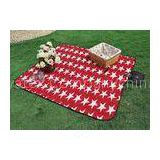 Knitted Fabric Star pattern Polar fleece Outdoor Picnic Blanket for friend family Activity