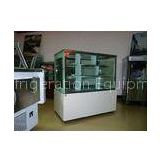 Luxury White Square Cake Display Freezer 1.8 meter Two Layers