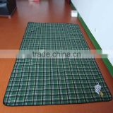 Durable Plaid Camping Picnic Blanket Beach Mat with Handles Water-resistant Foldable Roll Up Outdoor Mat