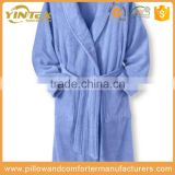 Wholesale different colors waffle 100%polyester hotel use bathrobe