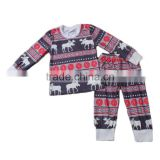 wholesale cotton pajamas baby sleepwear organic cotton kids clothes deer christmas pajamas