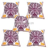 manufacturer cut work printed cotton cushion covers