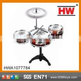 2016 Hot Sale Plastic Kids Jazz Drum Set Musical Instruments Drums