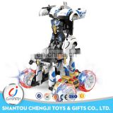 China manufacturer white stunt car deformation robot toys for kids