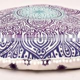 Round Pillow Cover Ombre Mandala Cushion Cover Pillow Case Indian 2017 Round Meditation Ottoman Pouf 32""