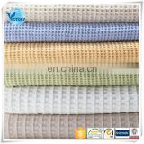 Weft Knitted 100% Cotton Waffle Fabric for Bathrobe