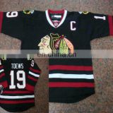 Wholesale jerseys/Chicago blackhawks #19 Jonathan Tower Black cheap ice hockey jerseys Front