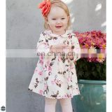 T-GD015 Flower Printing Different Casual Latest Dress Designs For Girls