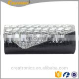 Hot Selling Newest Handbag Purse PU Wholesale Leather Clutch Bag With Chain Cheap Rhinestones Evening Bag