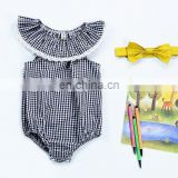 Wholesale blank baby clothes sleeveless organic cotton baby bodysuits baby clothes
