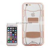 Sports Car Pattern Plating & Acrylic Combination Case for iPhone 6(Coffee