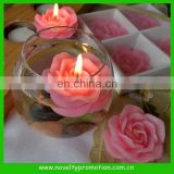 Lovers rose flower floating candles