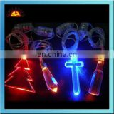 Different shaped led flashing necklaces shenzhen factory, led flashing jewellery for party/Christmas