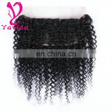 Wholesale Unprocessed Virgin Brazilian Kinky Curly Hair 360 Lace Frontal Closure Curly Kinky Hair Weave with baby hair