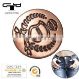 nickel free and eco friendly vintage metal material silver alloy denim jeans button and rivet