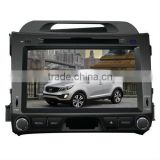 car multimedia navigation system for KIA Sportage 2013 with GPS/Bluetooth/Radio/SWC/Virtual 6CD/3G internet/ATV/iPod/DVR
