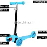 2015 new CE EN71 3 wheel folding manual pedal push 120/80mm kids kick scooter                                                                         Quality Choice