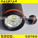 DAKSTAR SDT60 5200LM High Power IPX8 diving flashlight Scuba diving video light                                                                         Quality Choice
