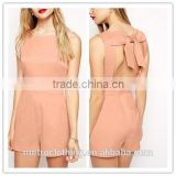 2015 china manufacturer customized fashion ladies sexy pink bib-front romper                                                                         Quality Choice