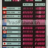Bank/Fund Electronic Foreigner Currency Exchange Rate Display Board
