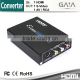 HDMI to Composite AV(RCA) +S-Video+L/R Video Converter for HDTV