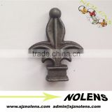 Main gate design cast iron spear wrought iron finials for fence gate accessories
