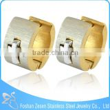 ZS11053 surgical steel gold filled hoop earring mens indian clip on cross earrings