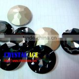 Big size black diamond glass stone, concave cabochon colored glass stone