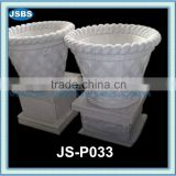 Handmade Outdoor White Stone Flower Pot For Cemetery