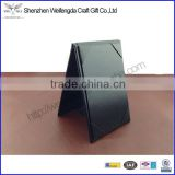 US market black leatherette 5*7'' table tent                                                                         Quality Choice