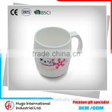 Alibaba China High Quality Cute Gift Customize Cherry Blossoms White Porcelain Mugs