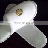Hot sale! disposable hotel slipper, disposable shower slippers, cheap polyester slippers