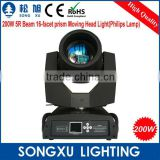 16 channels 16 facet prism sharpy beam moving head light beam 200 beam 5r for dj disco nightclub theater party                                                                         Quality Choice