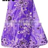 HV2-3 purple wholesale beautiful embroidery designs afrian velvet lace fabric heavy velvet laces dress
