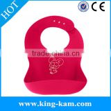 manufacturer High quality baby silicone bibs BPA free, waterproof silicone baby bib baby silicone bib