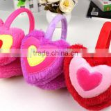 Winter warm heart-shaped earmuffs for girls and lady