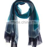 seamless tube neck printed voile scarf