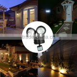 new 22LEDs PIR Motion Sensor Light LED Solar Powered Lamp Rotatable Double Dural Heads Security Wall Lamp for Outdoor Garden