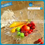 Wholesaling glassware plates beaded bottom fruit glass plate glass plate fruit glassware fruit glass bowl glass fruit salad bowl