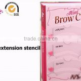 ABS recyclable eyebrow extension makeup tool stencil 3 styles in one bag