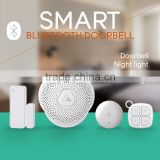 Built in 4.0 wireless Bluetooth doorbell with alarm buzzer,support android and IOS smartphone