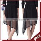 2015 new designs summer collection black mesh fabric pictures of mature women with short skirt