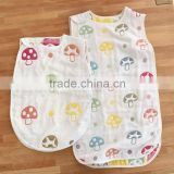 newborn babies vest design sleeping bags100% cotton gauze baby sleeping bag