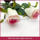 Artificial single long stem silk waterdrop rose