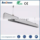Super led linear light with celling and suspend installation for kids shoes and prosuction line lighting