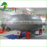 Shiny Silver Remote Control Inflatable Zeppelin With Good Equipment