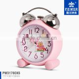 Plastic Two Bell Sweep Movement Pink Blue Green Color Mickey Clocks Plastic Table Vibrating Alarm Clocks Cheap Price From China