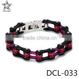 New stainless steel Crystal bike chain bracelet for women Cool Designs Jewelry                                                                         Quality Choice