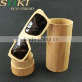 Square bamboo frame Sunglasses with cylinder box