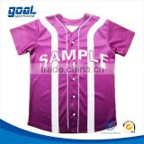 New sublimation custom pink plain women's baseball jersey